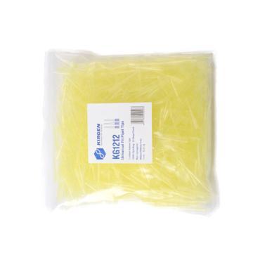 1-200ul吸嘴,黄色,带刻度,袋装,1000支/包,10包/箱,科进,Kirgen,KG1212