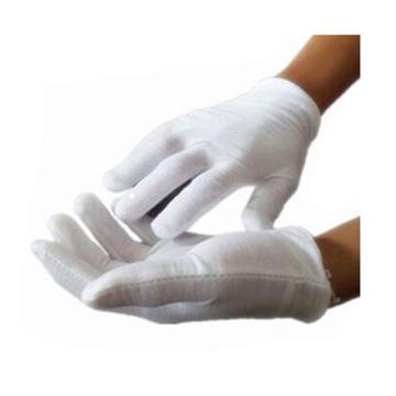 西域推荐 棉手套,白棉弹力手套 棉毛汗布,12副/打