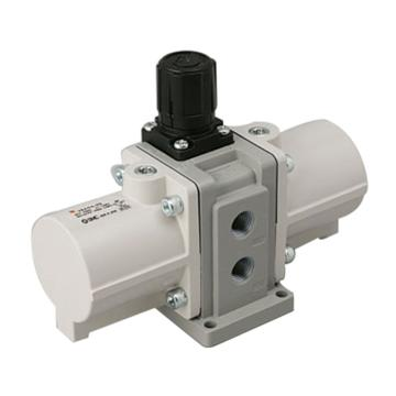 "SMC VBA-A增压阀,手动操作型,接管G1/4"",VBA10A-F02"