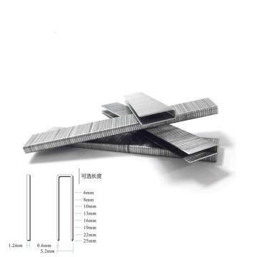 美特J419码钉,钉径1.15*0.58mm,宽5.2mm  长19mm 5000支/盒,J419(适于422J码钉枪)