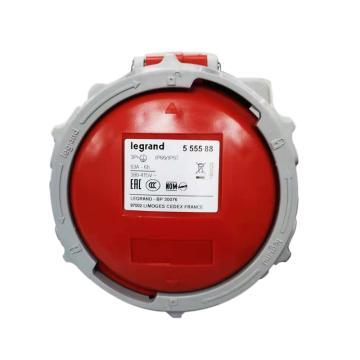 罗格朗 暗装插座,IP 66/67 AC 380/415V 63A 3P+E,555588