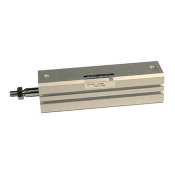 SMC 薄型气缸,单杆双作用,内置磁环,杆端外螺纹,CDQSB12-12DM