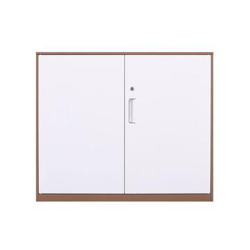 拆裝咖白對開鐵門柜,900寬*400深*760高,咖白色,鋼板厚度為0.8mm