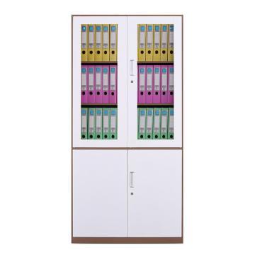 拆裝咖白大器械柜資料柜辦公柜,900寬*400深*1850高,咖白色,鋼板厚度為0.8mm
