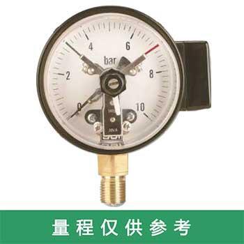 """上仪 电接点压力表,""""YXC-150 1.6级 0-1.6MPa 380V 30VA M20*1.5"""",径向"""