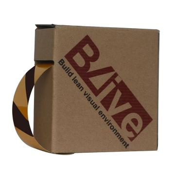 Blive 警示划线反光地贴胶带,50mm×22m,黄/黑,BL-RL-50-YB