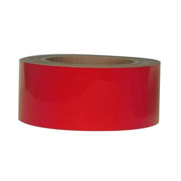 Blive 警示划线反光地贴胶带,100mm×22m,红色,BL-RL-100-RD