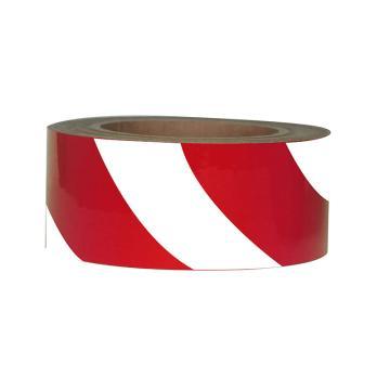 Blive 警示划线反光地贴胶带,100mm×22m,红/白,BL-RL-100-RW