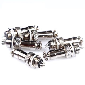 汇君 GX12-5插头+插座,航空插头5芯插头+插座