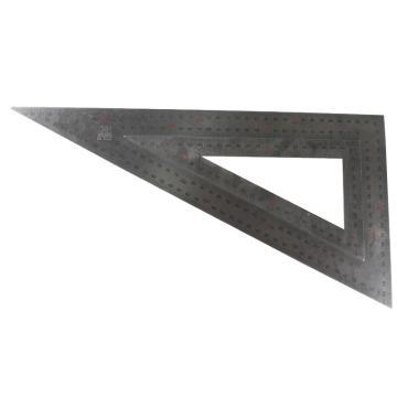 波斯BOSI 不锈钢三角尺,20×40cm,BS181140,不锈钢90度角尺 拐尺 木工钢板尺 钢直尺 靠尺