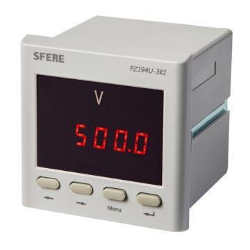 斯菲尔/SFERE 单相数显电压表,PZ194U-3K1 AC100V