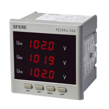 斯菲尔/SFERE 三相数显电压表,PZ194U-3X4 AC100V-3P3W