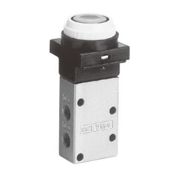 SMC 3通機控閥,按鈕式(平頭),VM430-01-33