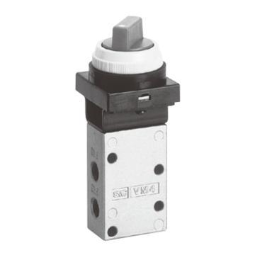 SMC 3通机控阀,黑色旋钮式(二位),VM430-01-34B