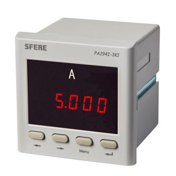斯菲尔/SFERE 单相数显电流表,PA194I-3K1 AC5A