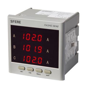 斯菲尔/SFERE 三相数显电流表,PA194I-9K4 AC1A