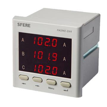 斯菲尔/SFERE 三相数显电流表,PA194I-3X4 AC5A
