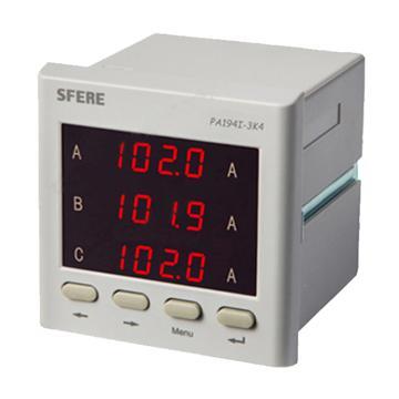 斯菲尔/SFERE 三相数显电流表,PA194I-3K4 AC5A