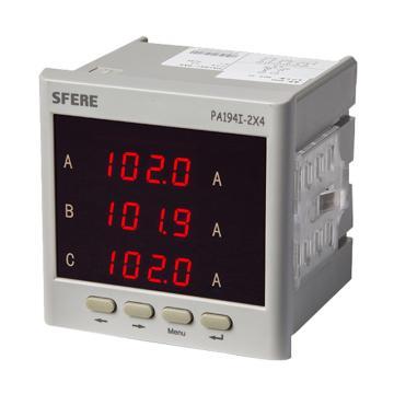 斯菲尔/SFERE 三相数显电流表,PA194I-2X4 AC5A