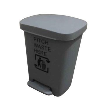 塑料垃圾桶,脚踏垃圾桶,30L,浅灰
