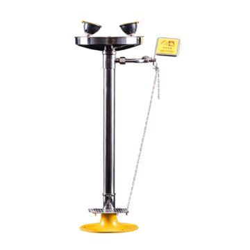 博化 自动排空立式洗眼器(304不锈钢),含脚踏