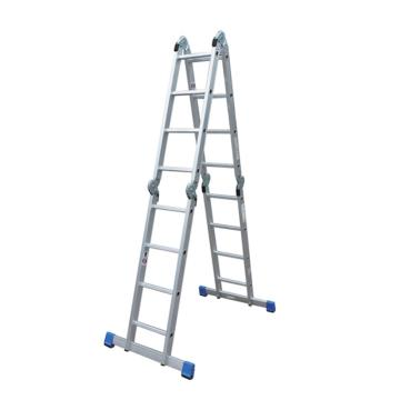 金锚 铝合金多功能折叠梯,16节踏棍 载重(kg):150 最大载重(kg):260,AO52-404