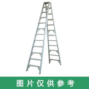 金锚 铝合金双侧梯,踏板数:6,额定载荷(KG):150,使用高度(米):3.4,AO31-206