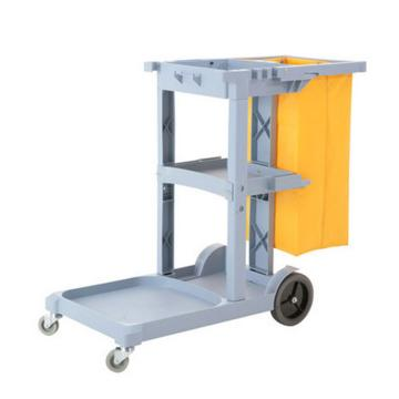 白云酒店清潔手推車,AF08170 保潔雜物車 輕便多功能工具車 灰色