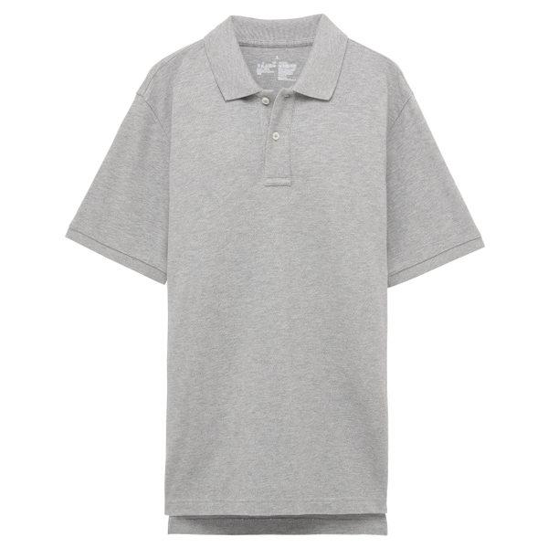 夏季220g 65%棉35%涤珠地网眼POLO衫,灰色,L,左胸绣华为logo