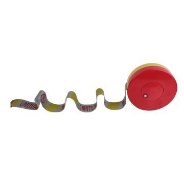 安赛瑞 反光盒装警示隔离带-警戒线,50mm×50m,反光TC布,12472