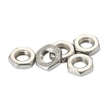 DIN439-2带倒角的六角薄螺母,M6,不锈钢304,洗白,3000支/盒