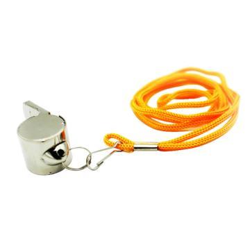 安赛瑞 不锈钢口哨(10个装)长4cm 带挂绳,12545