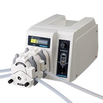 兰格,基本型蠕动泵,WT600-2J配泵头KZ25,转速范围:60-600rpm,单通道流量范围:200-6000mL/min