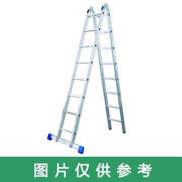 金錨 鋁合金可折疊兩用梯,踏板數:8 額定載荷(KG):150 人字高度(米):2.27,AC51-208
