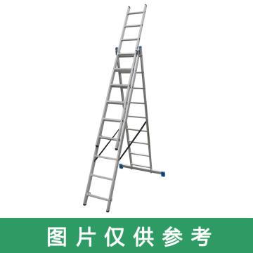 金锚 铝合金多功能组合梯 踏棍数:3 x 10 最大承重(KG):260 人字梯高度(米):2.67,CE3x10