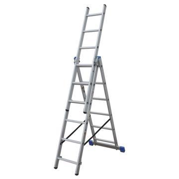 金锚 铝合金多功能组合梯 踏棍数:3 x 6 最大承重(KG):260 人字梯高度(米):1.62,CE3x6