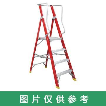 金锚 高强度玻璃钢平台梯 踏板数:3 最大承重(KG):260 跨度(米):1.147 底宽(米):0.643,FO25-103