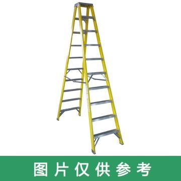 金锚 玻璃钢绝缘双侧梯,踏板数:7 额定载荷(KG):150 展开高度(米):2.27,LFD250GFA