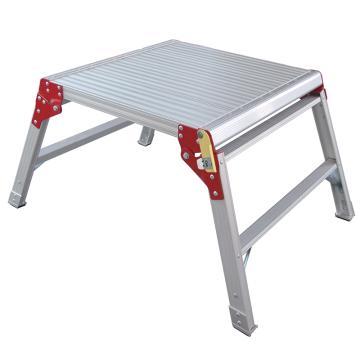 金锚 铝合金工作平台梯 踏棍数:1 最大承重(KG):260 平台高度(米):0.47,AO73-202