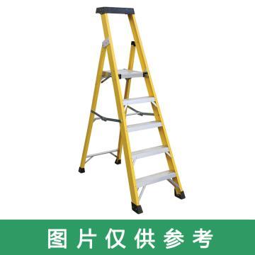 金锚 高强度玻璃钢工作梯 踏板数:7 最大承重(KG):260 跨度(米):1.51 底宽(米):0.629,FO17-107