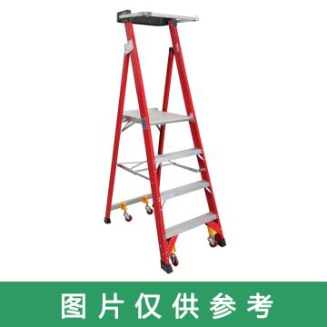 金锚 高强度玻璃钢平台梯,踏板数:3 最大承重(KG):450 平台高度(米):0.9,FA14-103
