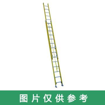 金锚 玻璃钢伸缩梯,踏棍数:24 额定载荷(KG):150 延伸长度(米):6.48,LCS380GFA1