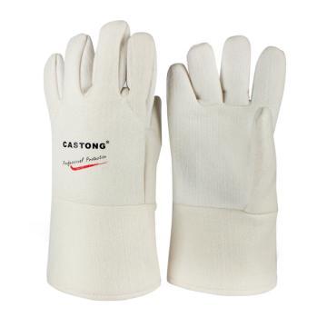 卡司顿 300°5指手背铝箔耐高温手套,NFRR15-34