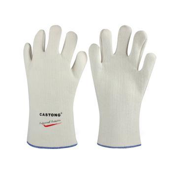 卡司顿 隔热手套,NFFF35-33,300°5指可接触食品耐高温手套