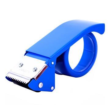 得力(deli)胶带切割器,胶纸金属封箱器 打包机打包器 0823蓝色 4.8cm金属封箱器 单位:只