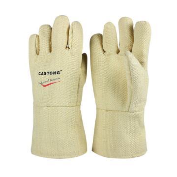 卡司頓 隔熱手套,YAAA15-34,500+°耐高溫手套 黃色