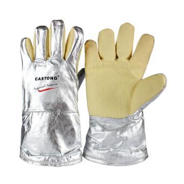 卡司顿 隔热手套,YERR15-34,500°5指手背铝箔经济型耐高温手套