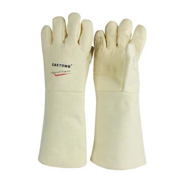 卡司顿 隔热手套,ABY-5T-45,500°耐高温手套 黄色