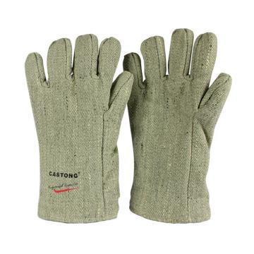 卡司顿 隔热手套,GAAA25-34,500+°耐高温手套 绿色