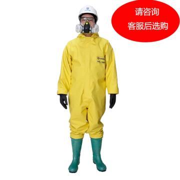海固 國標1級防化服,HG-1WP-XL,1WP一級半封閉 含手套及膠靴 顏色隨機 選顏色請聯系客服